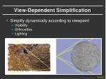 view dependent simplification