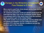 changes in the wintertime atmospheric flow related to el nino