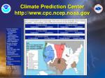 climate prediction center http www cpc ncep noaa gov