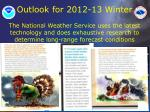 outlook for 2012 13 winter