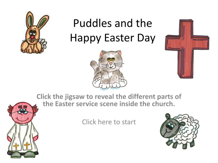 puddles and the happy easter day n.