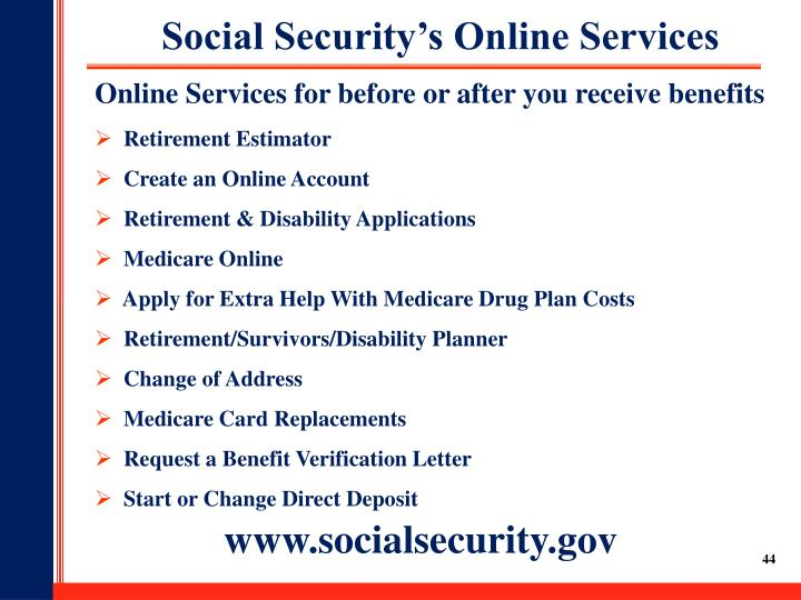Social Security's Online Services