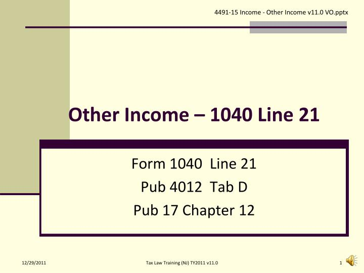 other income 1040 line 21 n.