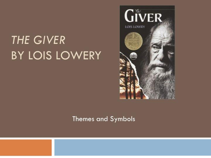 the giver by lois lowery n.