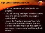 high school mathematics must1