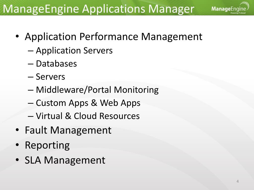 PPT - ManageEngine ® Applications Manager PowerPoint