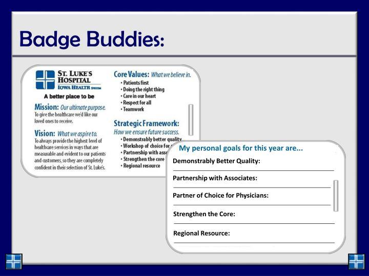 Badge Buddies: