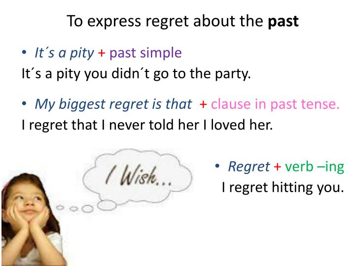 To express regret about the