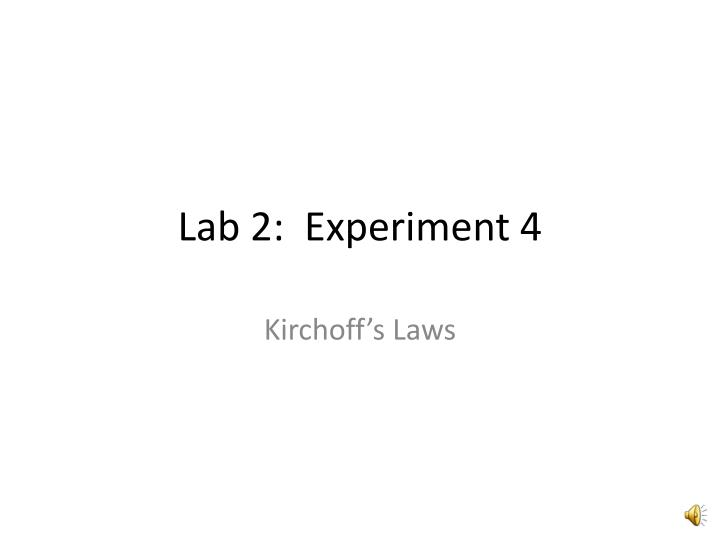 lab 2 experiment 4 n.