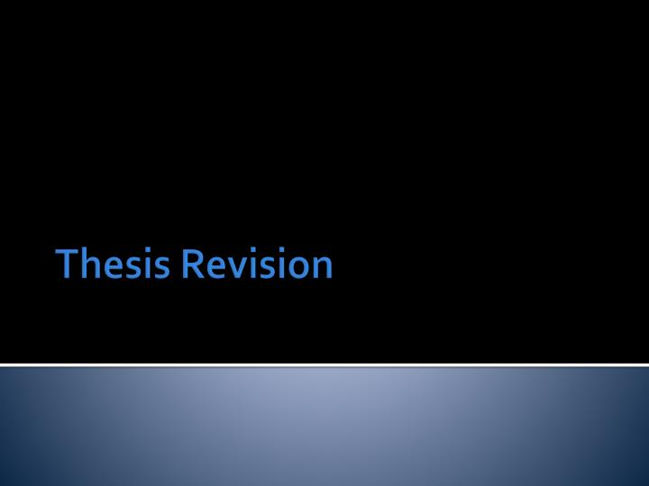 thesis revision n.
