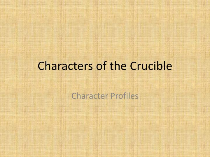 characters of the crucible n.
