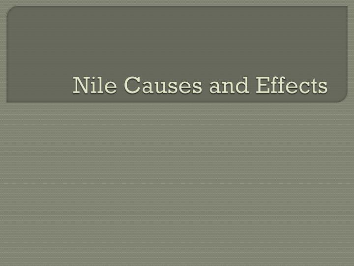 nile causes and effects n.