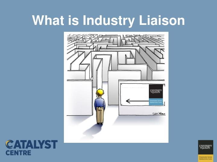 What is industry liaison