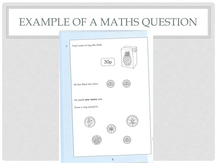 example of a maths question