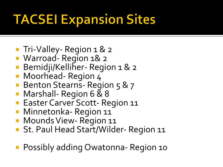 tacsei expansion sites n.