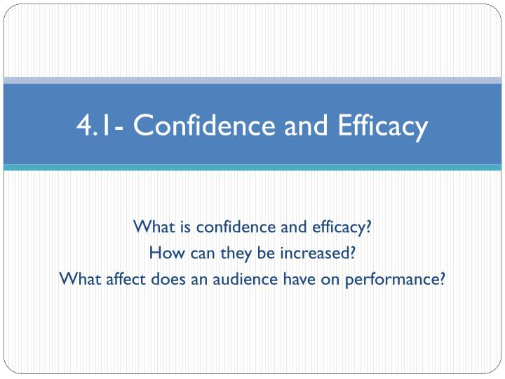 4 1 confidence and efficacy n.