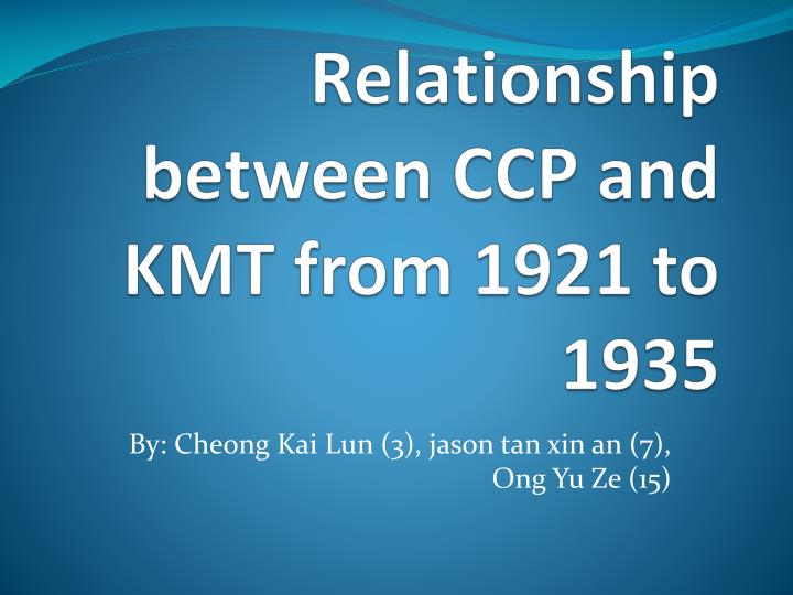 relationship between ccp and kmt from 1921 to 1935 n.