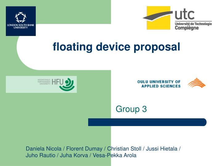 floating device proposal n.