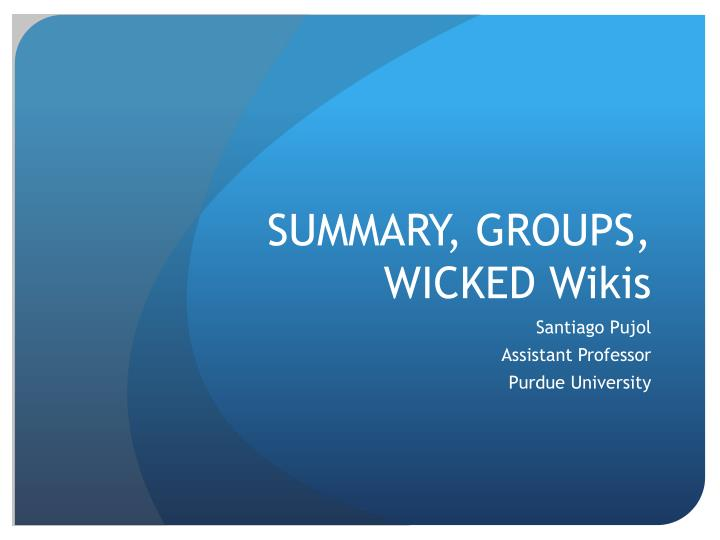 summary groups wicked wikis n.