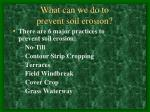 what can we do to prevent soil erosion