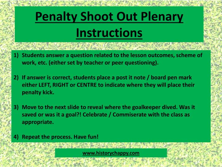 penalty shoot out plenary instructions n.