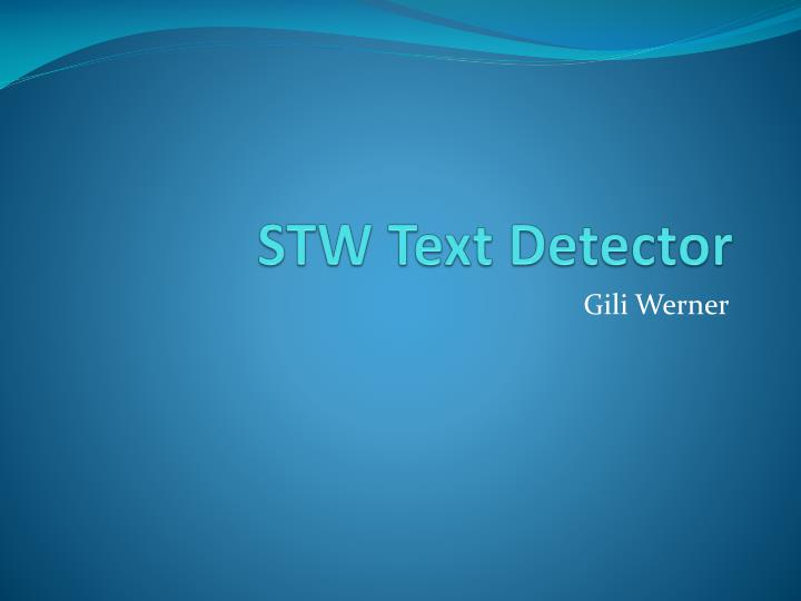 Stw text detector