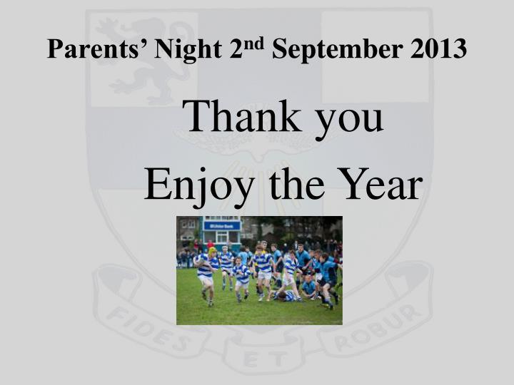 Parents' Night