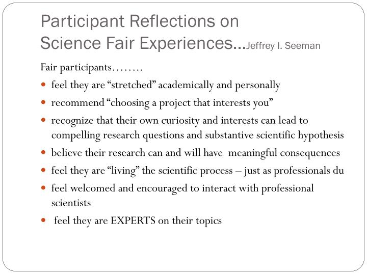 Participant Reflections on