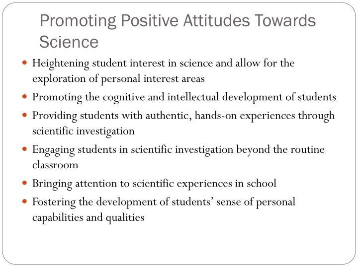 Promoting positive attitudes towards science