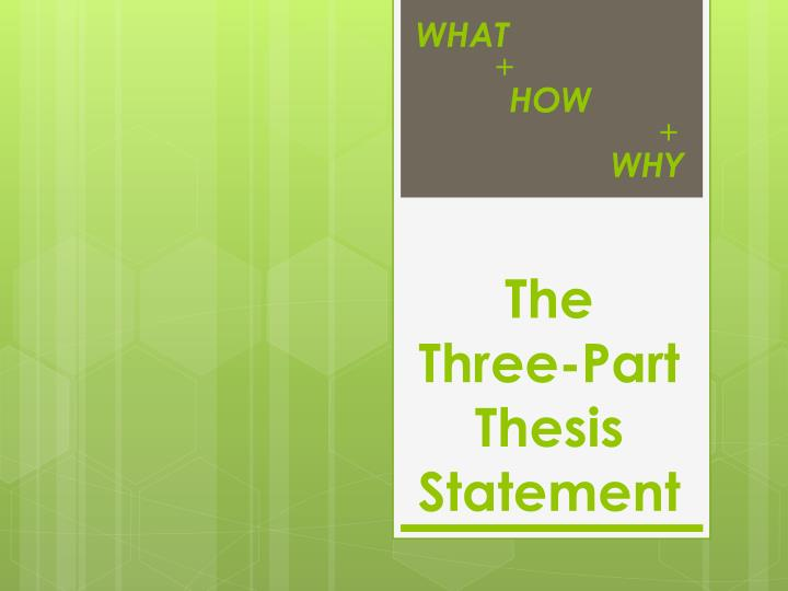 the three part thesis statement n.