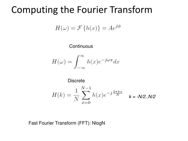 Computing the Fourier Transform