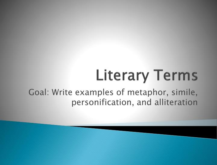Ppt Literary Terms Powerpoint Presentation Id2449946