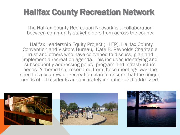 Halifax County Recreation Network
