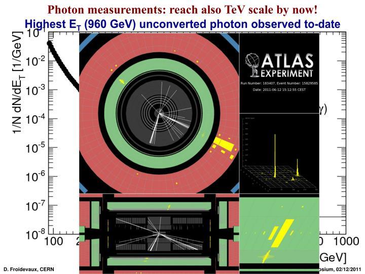 Photon measurements: reach also