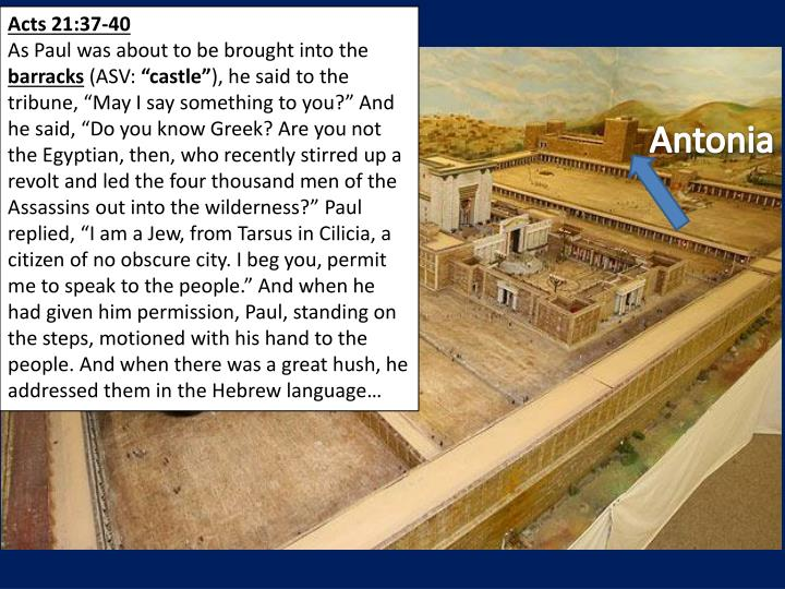 Acts 21:37-40
