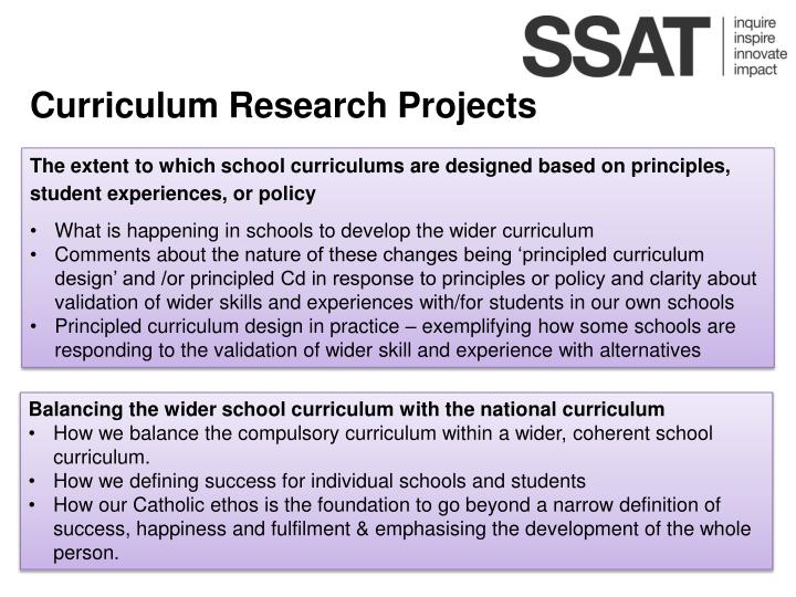 Curriculum Research Projects