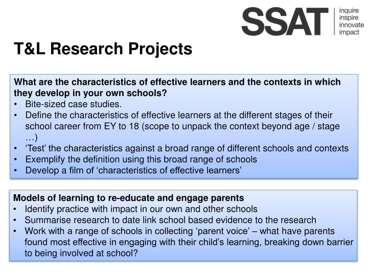 T&L Research Projects