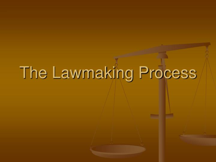 the lawmaking process n.