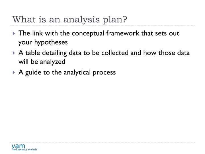 What is an analysis plan?