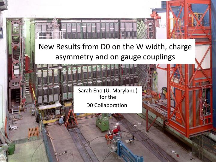 new results from d0 on the w width charge asymmetry and on gauge couplings n.
