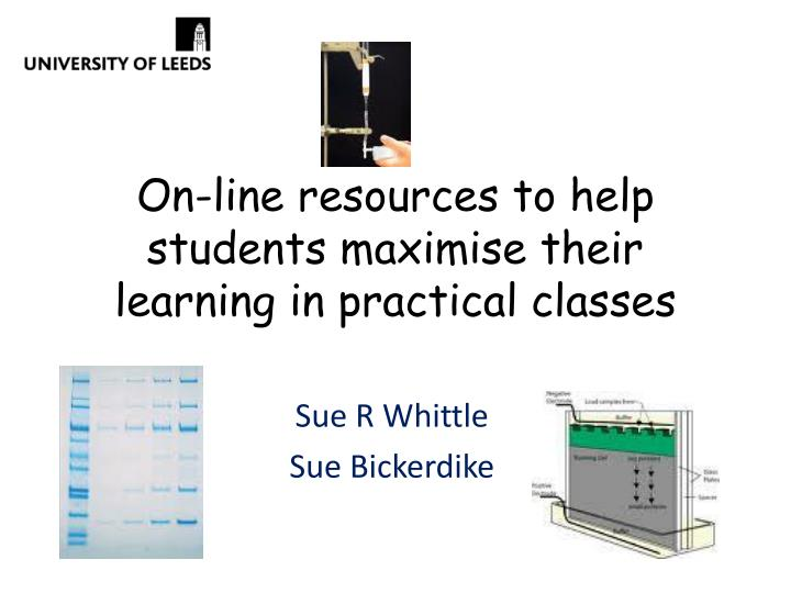 on line resources to help students maximise their learning in practical classes n.