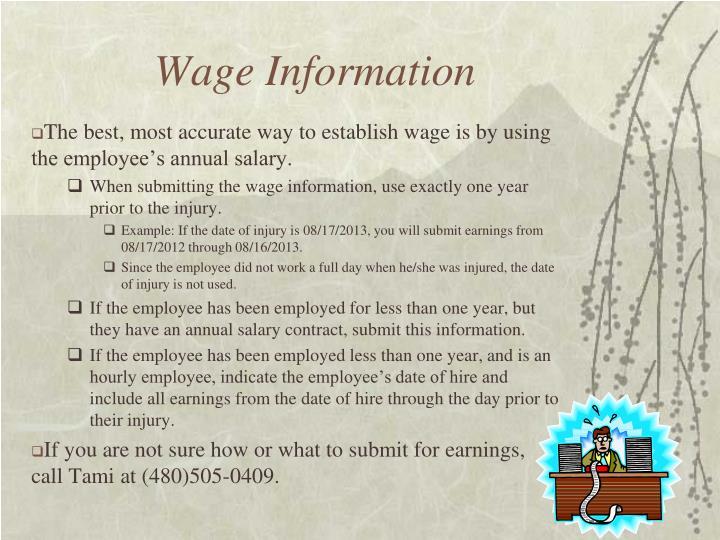 Wage Information