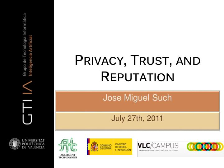 privacy trust and reputation n.