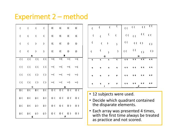 Experiment 2 – method