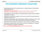dfs dynamic frequency selection