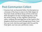 post communion collect
