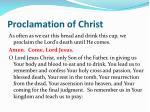 proclamation of christ