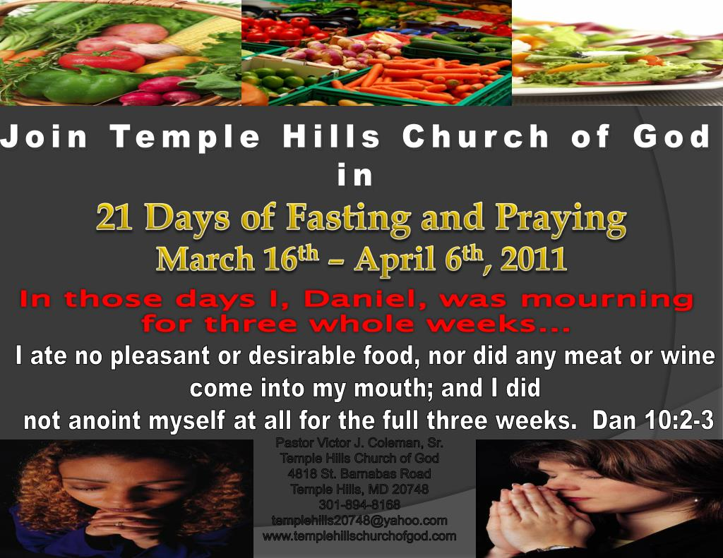 PPT - 21 Days of Fasting and Praying March 16 th – April 6