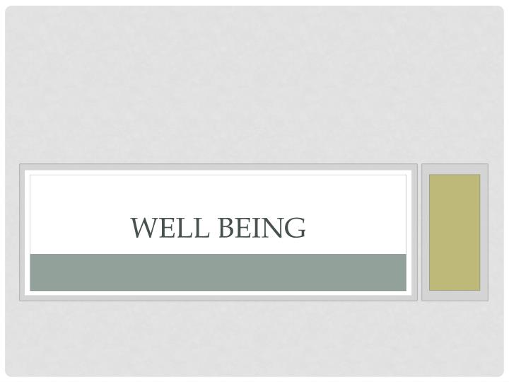well being n.