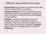 different quantitative data types